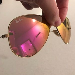 Ray bans 100% real pink lens
